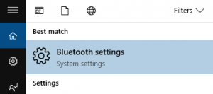 Opening up Bluetooth Settings